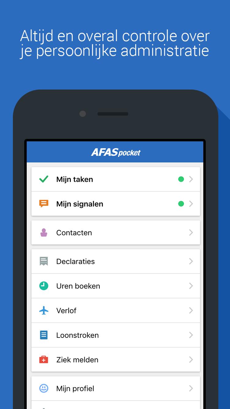 De nieuwe AFAS Pocket App: ERP in je broekzak